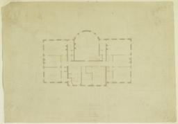 Country House for Hon. Wm. C. Whitney at Wheatley, Long Island. Third Floor Mezzanine Plan