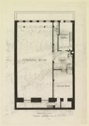 Basement plan. Public Library No. 2