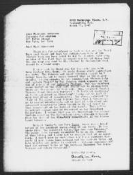 Letter from Arnold M. Rose to Florence Anderson, March 23, 1943