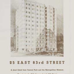 25 E. 83 Street