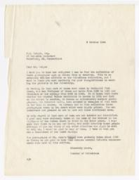 Letter from Milton Halsey Thomas  to William Hodges