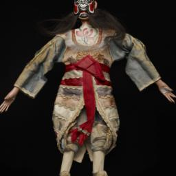 Masked Chinese Male Figurin...