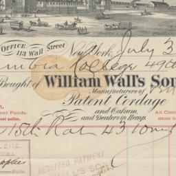 William Wall's Sons, bill o...
