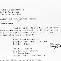 Letter from F.H. Styles of ...