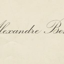 Alexandre Benois Business Card