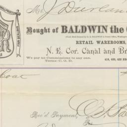 Baldwin the Clothier. Bill ...