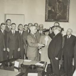 President Harry Truman take...