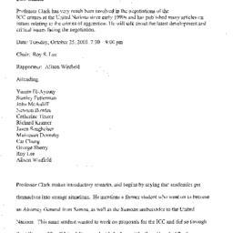 Minutes, 2005-10-25. The Pr...