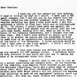 Letter from Richard Sterner...