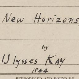 Of New Horizons