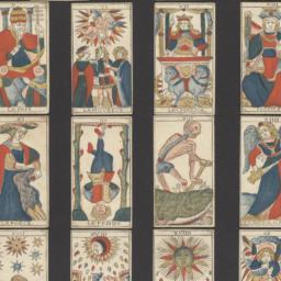 Tarot playing cards