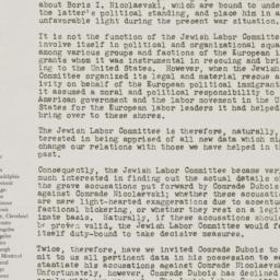 Letter from the Jewish Labo...
