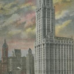 Woolworth Building at Dawn,...