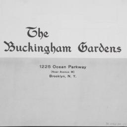 The     Buckingham Gardens,...