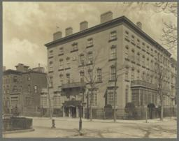 Elevation, view of South (bay window), 21st St. side, and West (entrance) side, South side faces Gramercy Park, entrance on Lexington Avenue