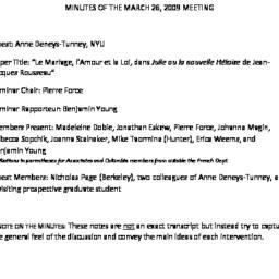 Minutes, 2009-03-13. Post-C...
