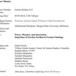 Minutes, 2014-05-07. Irania...