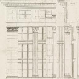 Detail of four upper storie...