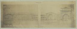 Façade Laterale. A.-A. Marcel & L. P. Blanc. -- Gare centrale de Bucharest