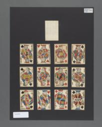 Standard deck of playing cards with French suits, Paris pattern