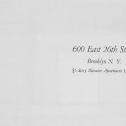 600 E. 26 Street, 500 East ...