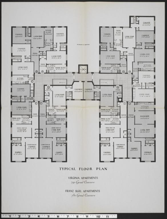 Virginia Apartments Franz Sigel Apartments Alexandria Apartments 780 Grand Concourse Typical Floor Plan Virginia Apartments Franz Sigel Apartments The New York Real Estate Brochure Collection