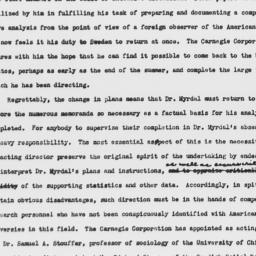 Statement on Gunnar Myrdal'...