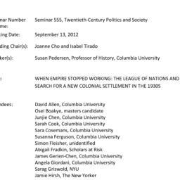 Minutes, 2012-09-13. Twenti...
