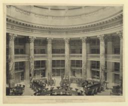 Interior of the Library: New York University, University Heights, New York, N. Y. McKim, Mead & White, Architects