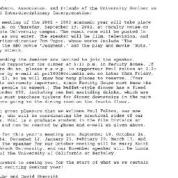 Announcements, 2002-09-19. ...
