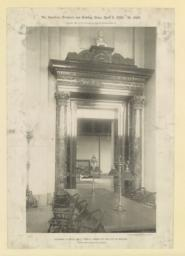 Doorway in Bates Hall: Public Library of the City of Boston. McKim, Mead & White, Architects