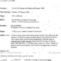 Announcements, 2004-02-04. ...