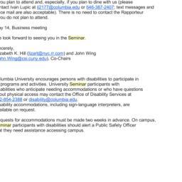 Announcements, 2013-04-09. ...