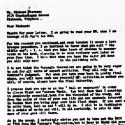 Letter from Gunnar Myrdal t...