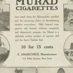 Murad cigarettes 10 for 15 ...