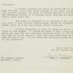 Letter to Carnegie Foundati...