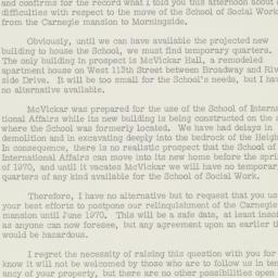 Typed letter signed to Alan...