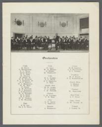 Unnumbered Page, Orchestra Listing