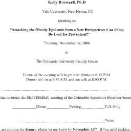 Announcements, 2000-11-16. ...