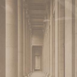 Along colonnade