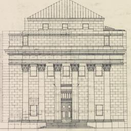 Front elevation. The Bank o...