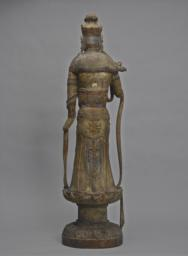 The Bodhisattva Guanyin Standing on a Lotus Pedestal, Back