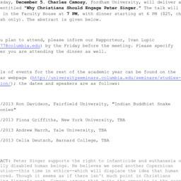 Announcements, 2012-12-05. ...