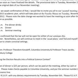 Announcements, 2012-11-13. ...
