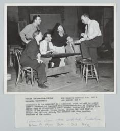 "Otto Luening Conducting Rehearsal of ""Evangeline,"" Photograph"