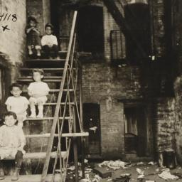 Children on Tenement Stairs