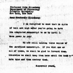 Letter from Charles Dollard...