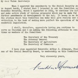 Letter from President Frank...