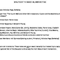 Minutes, 2009-03-26. Post-C...