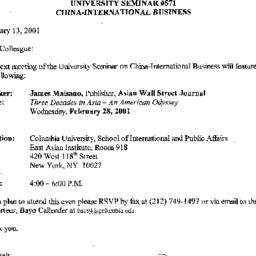 Announcements, 2001-02-28. ...